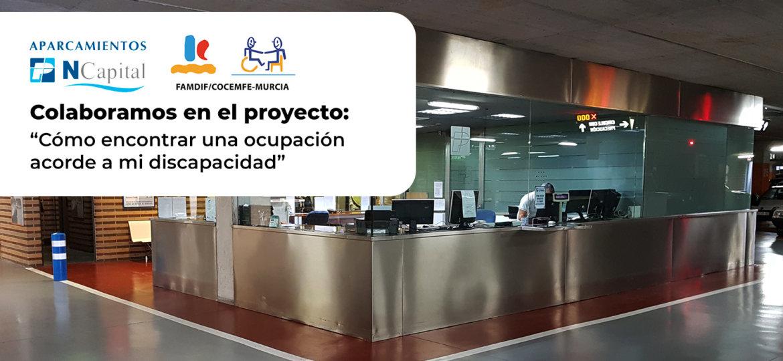 New Capital colabora con el Proyecto como encontrar una ocupacion acorde a mi discapacidad de FAMDIFCOCEMFE-Murcia.